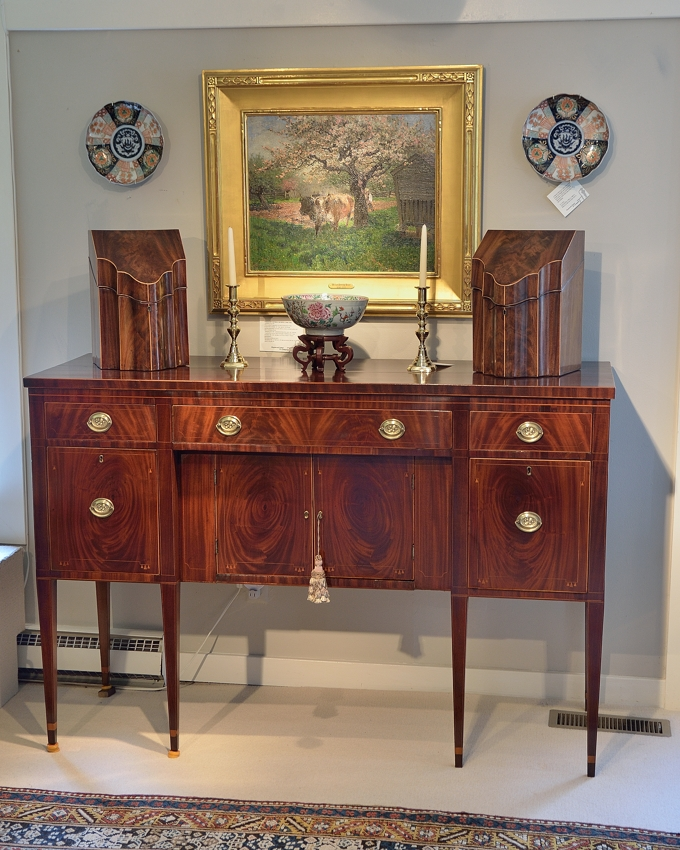 Hepplewhite Mahogany Inlaid Sideboard