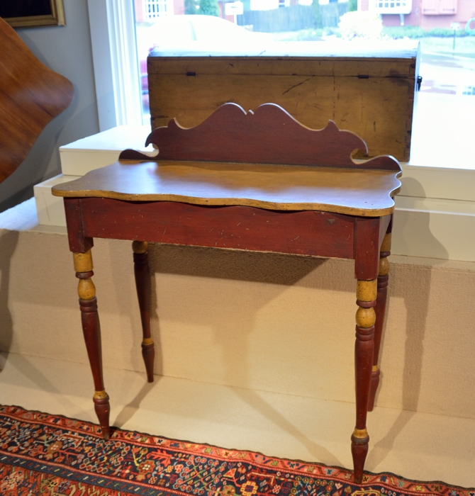 Country Sheraton Painted Serving Table