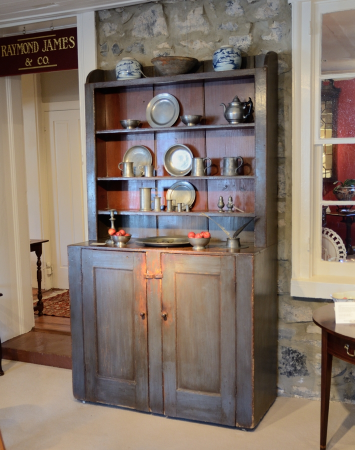 Step-Back Painted Cupboard - Raymond James Antiques