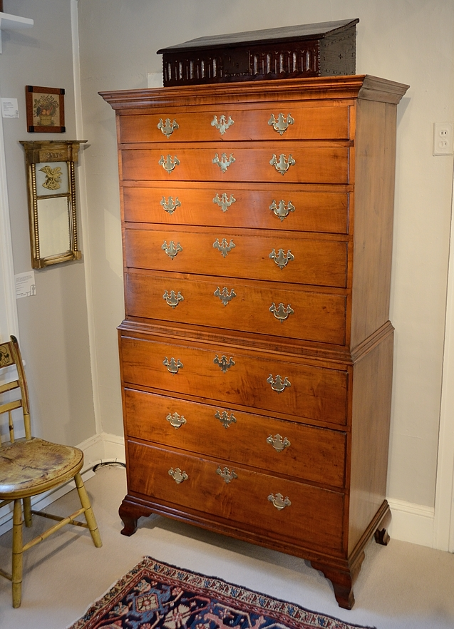 Chippendale Maple Chest on Chest