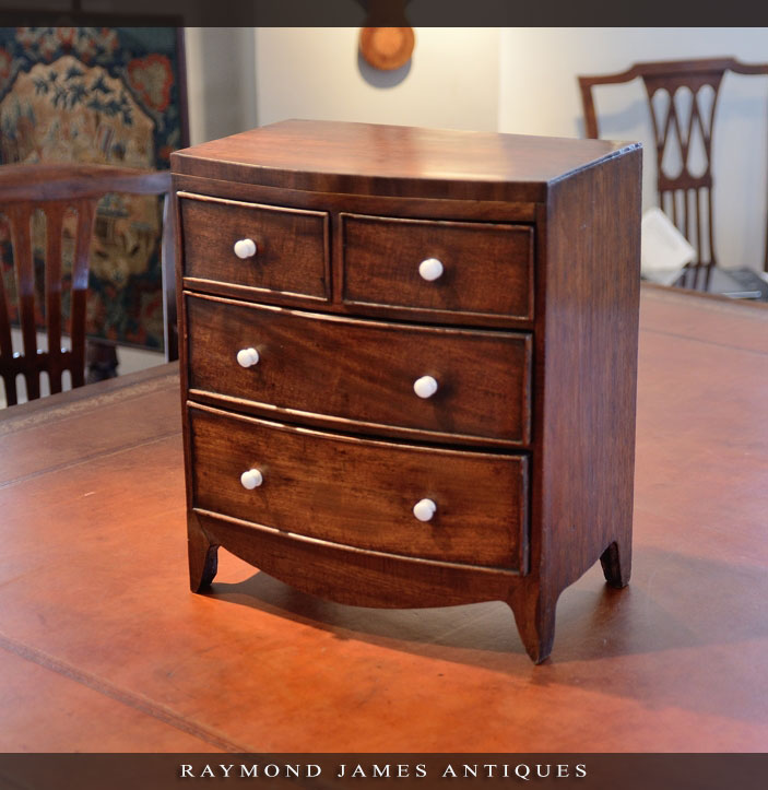 Regency Mahogany Bowfront Chest Drawers