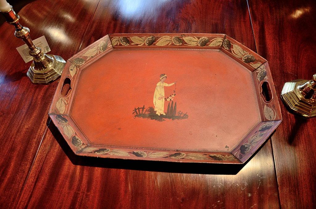Red-Toile-Tray