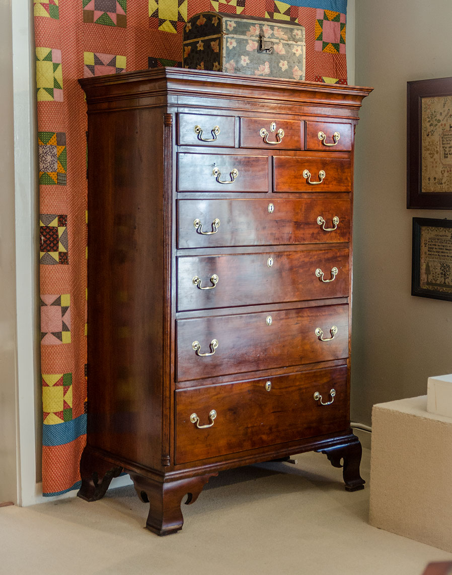 Chippendale-Cherry-Tall-Chest