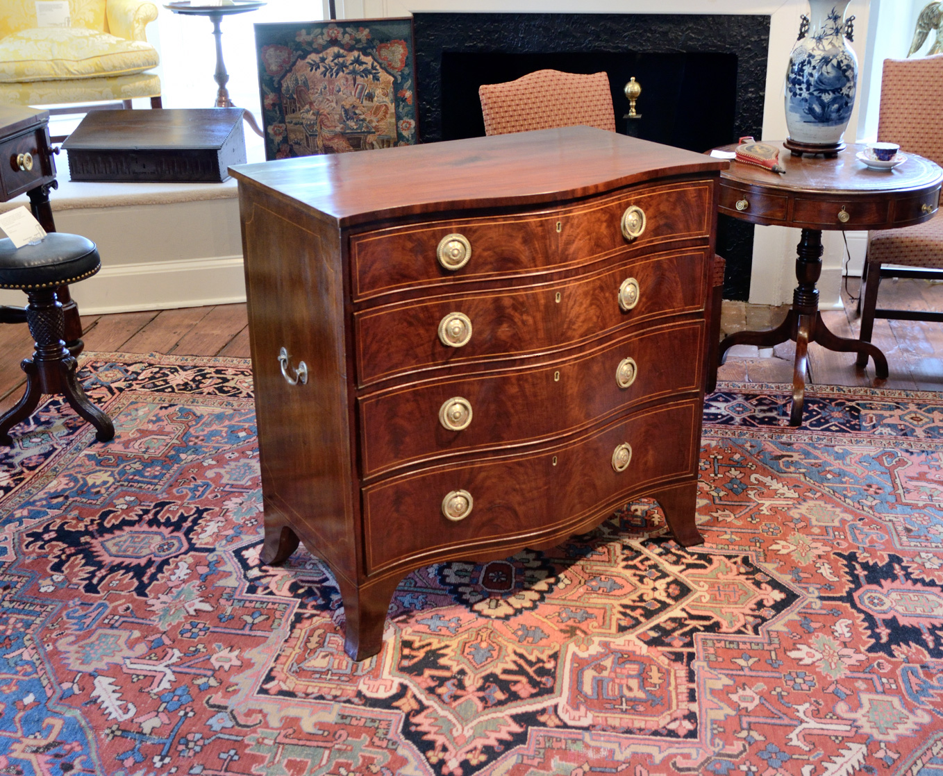 George-III-Mahogany-Serpentine-Chest-Of-Drawers