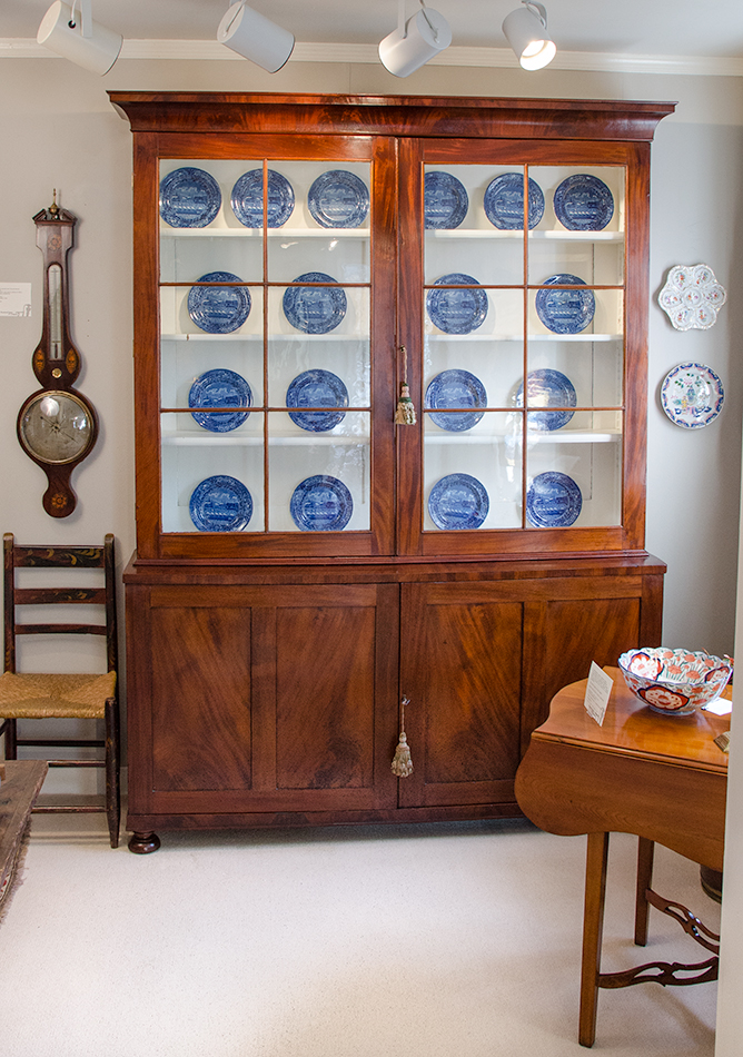 Federal Figured Mahogany Display Cabinet