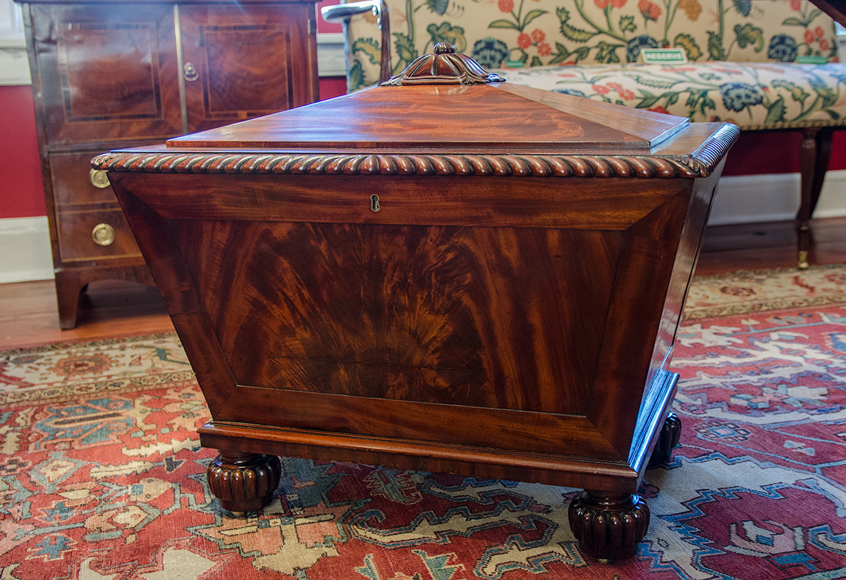 William IV Mahogany Cellarette - Front