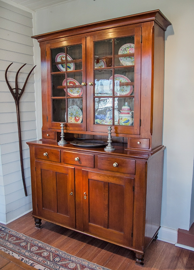 Federal Cherry Step Back Cupboard