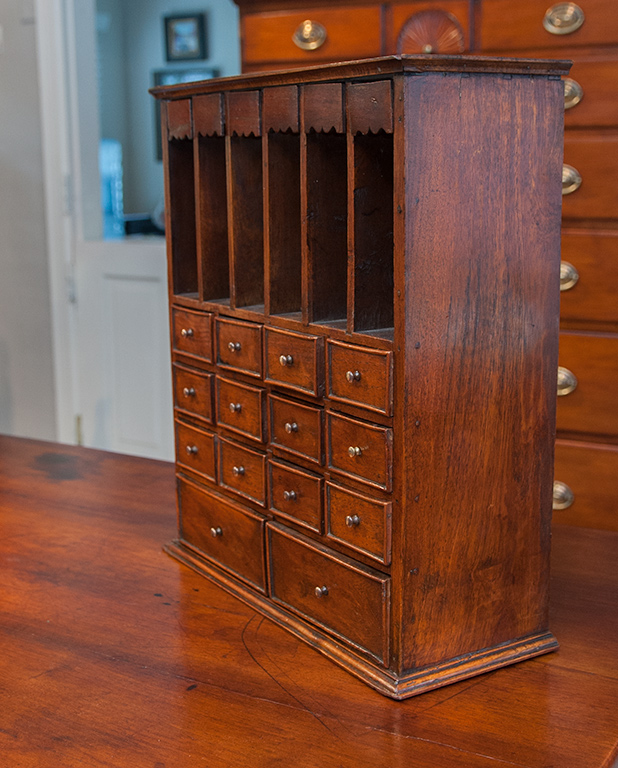 Nitrogen Bench Top Cabinet ~ Table top cabinet with drawers sold raymond james antiques