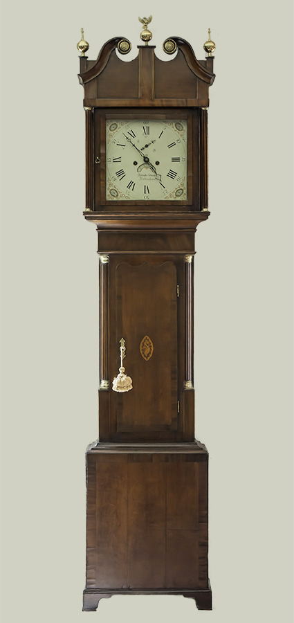 George III Mahogany Tall Case Clock