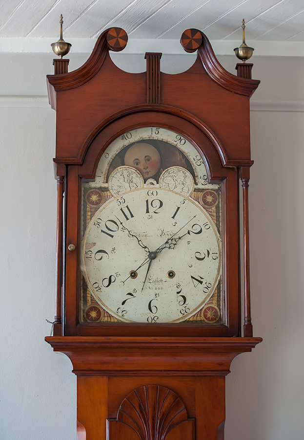 Federal-Cherry-Tall-Case-Clock-Face