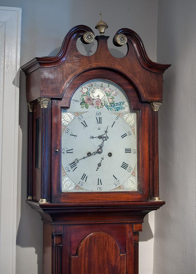 George Iii Mahogany Tall Case Clock Sold Raymond James