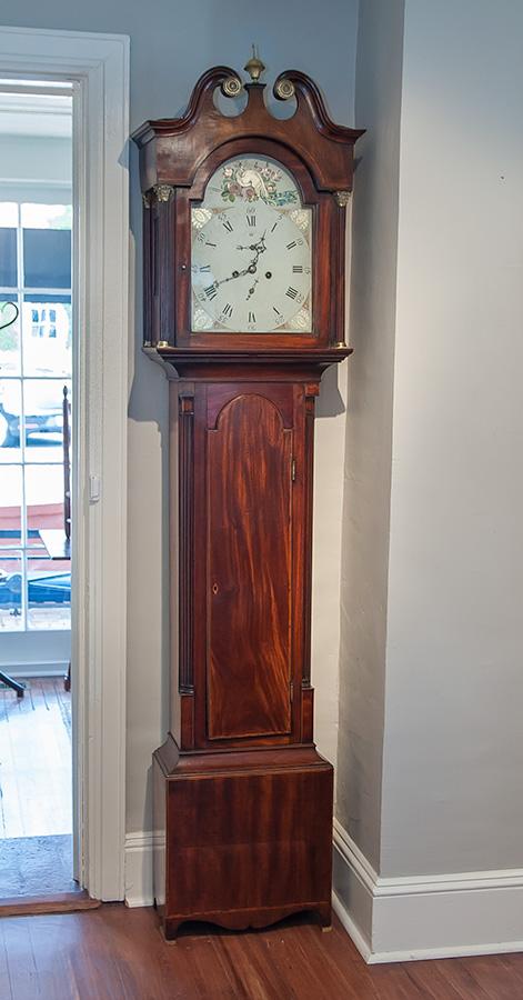 George III Mahogany Tall Case Clock