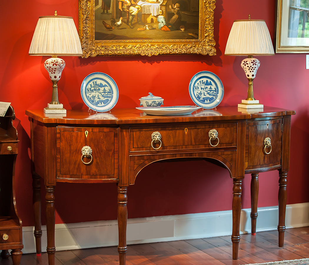 William-IV-Mahogany-Inlaid-Sideboard
