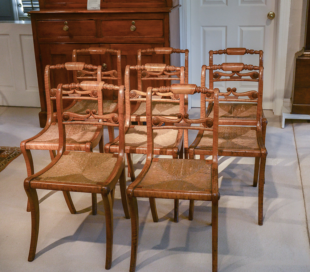 Federal Tiger Maple Chairs