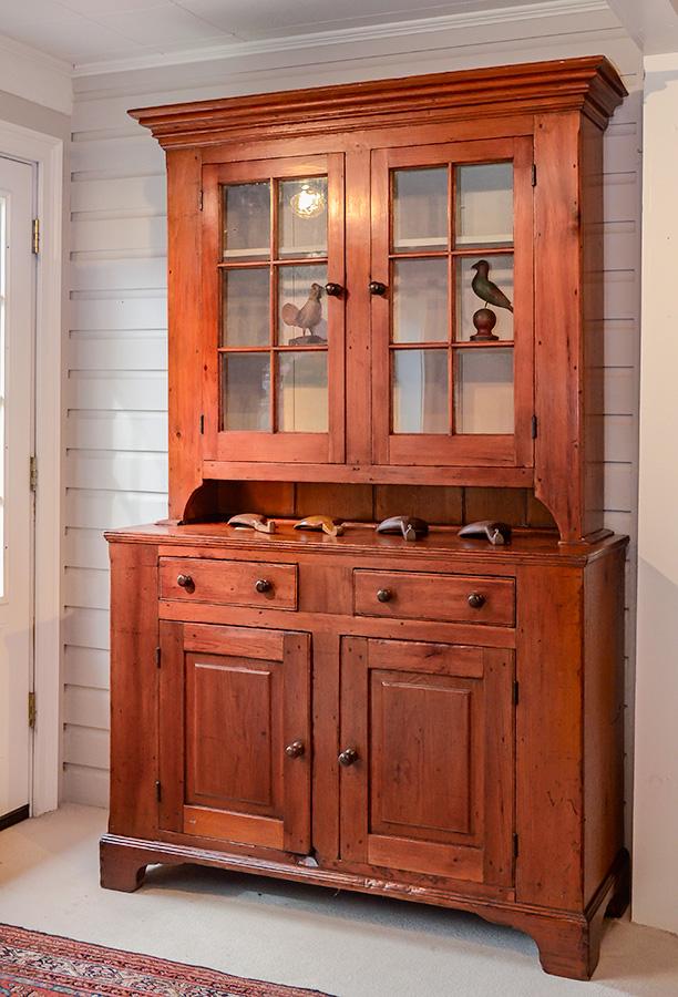 Federal Pine Step Back Cupboard