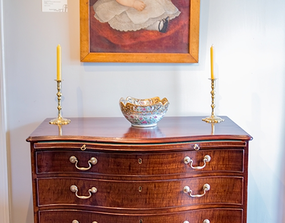 George III Serpentine Chest  Drawers