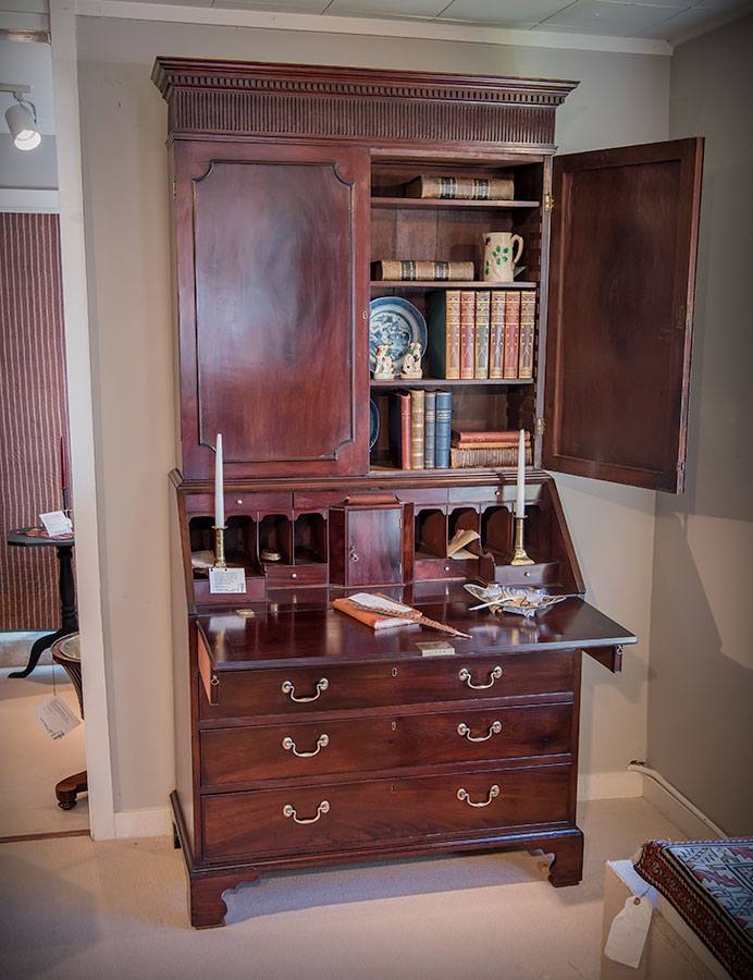 Chippendale Walnut Slant-Front Desk