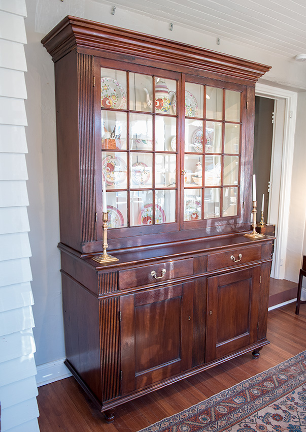 Federal Walnut Step-Back Cupboard