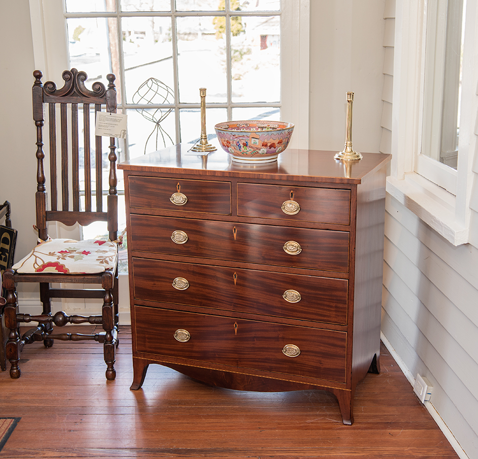 Hepplewhite Inlaid Mahogany Chest Drawers