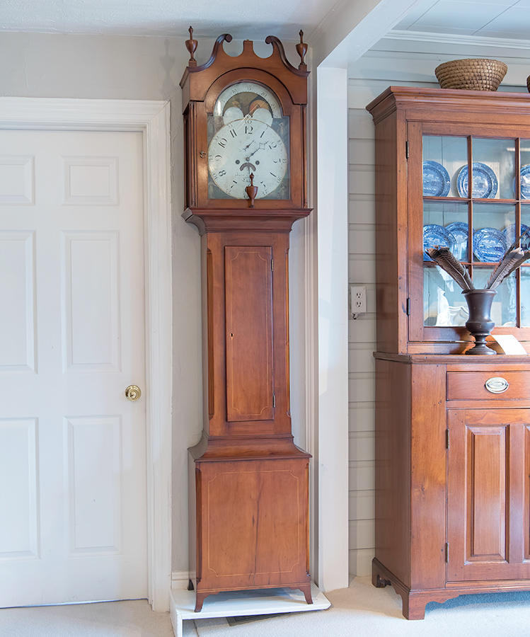 Tall Case Inlaid Clock
