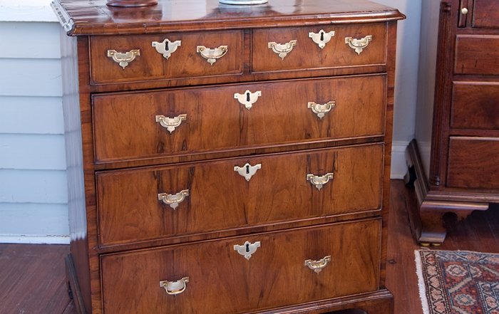 George II Walnut Chest Drawers