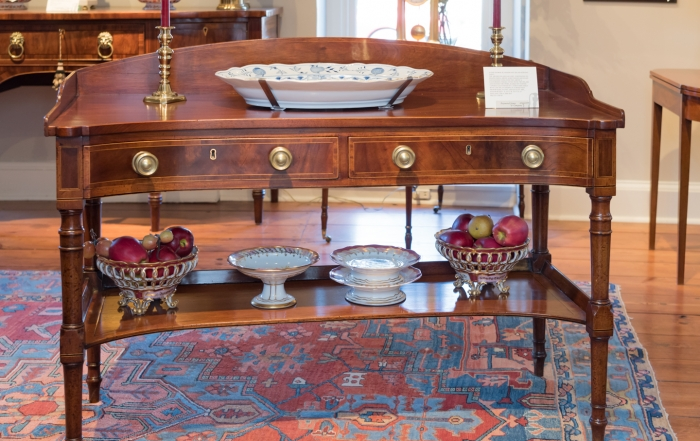 King George III Mahogany Inlaid Serving Table