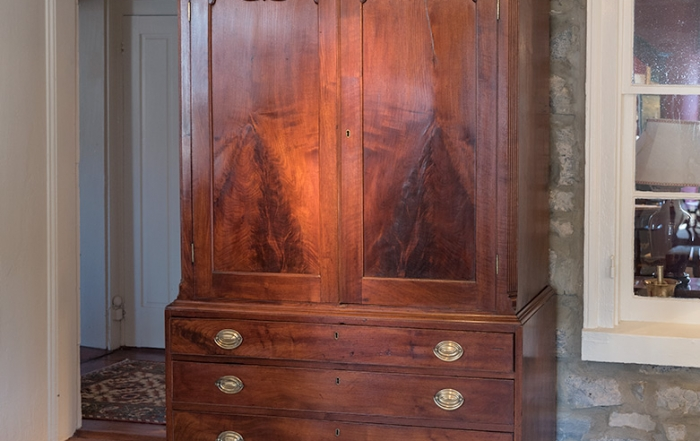 Chippendale Walnut Linen Press