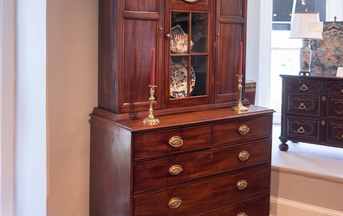 George III William IV Mahogany Cabinet On Chest