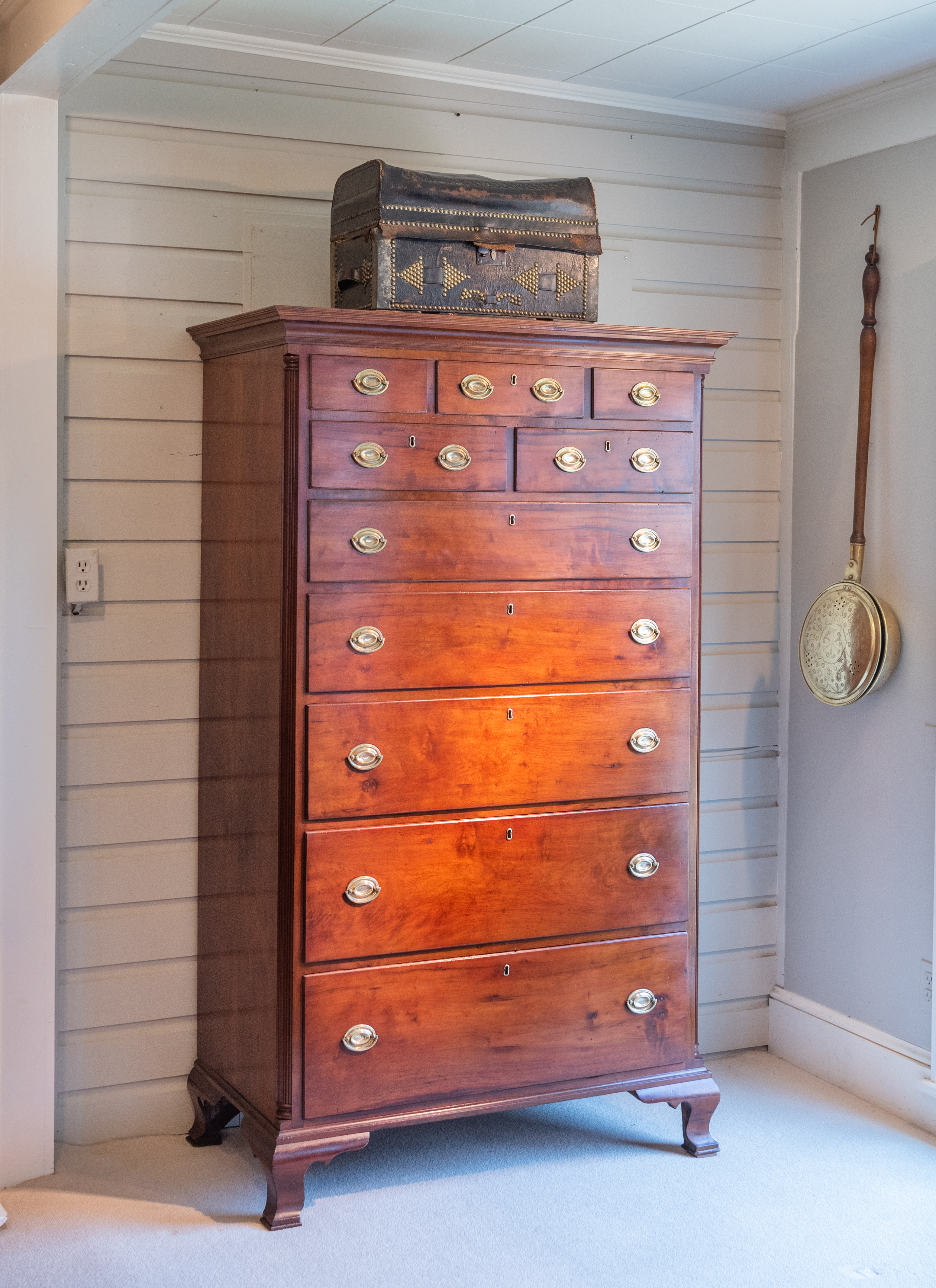 Chippendale Cherry Tall Chest Case