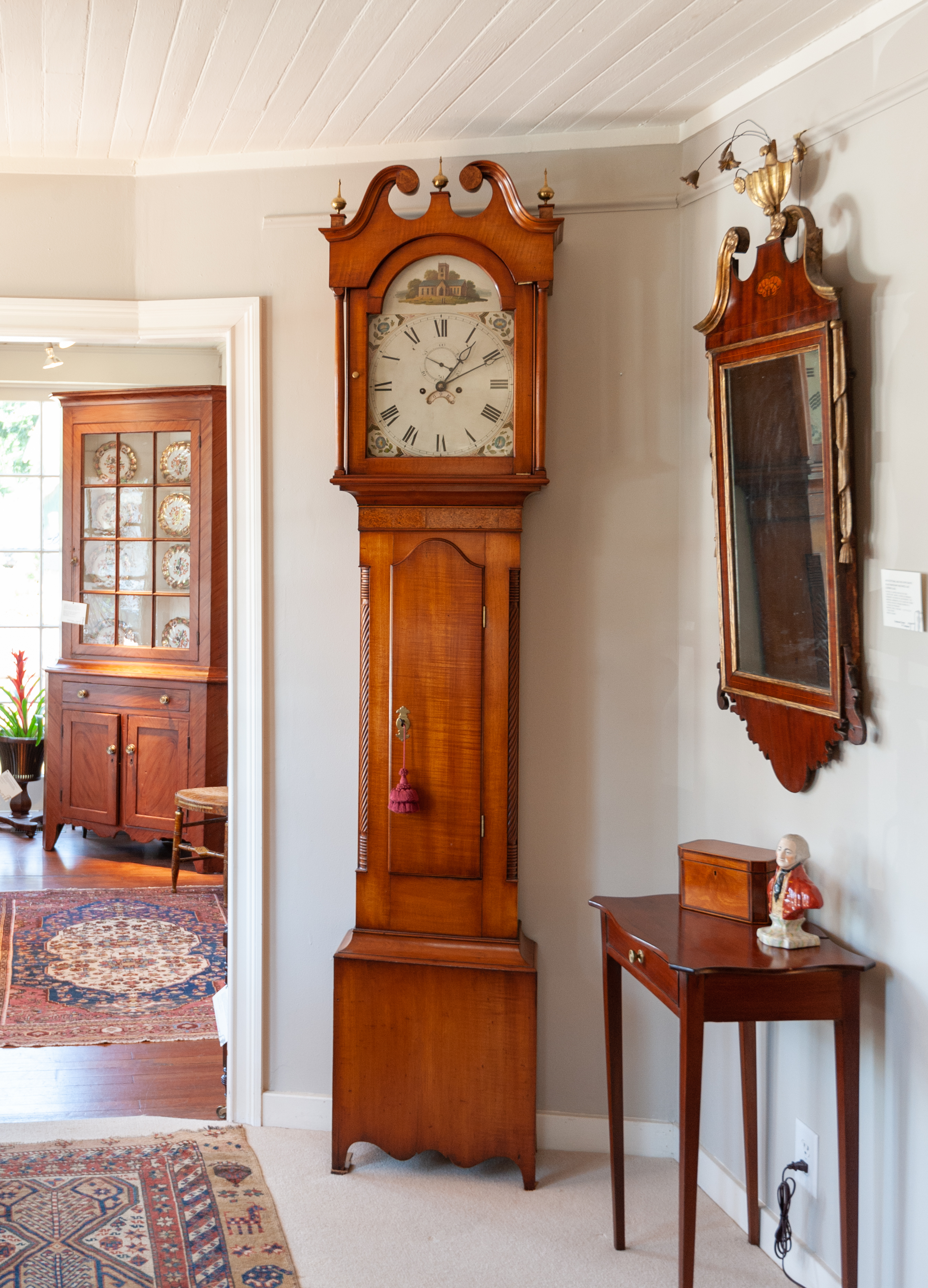 Federal Maple Tall Case Clock
