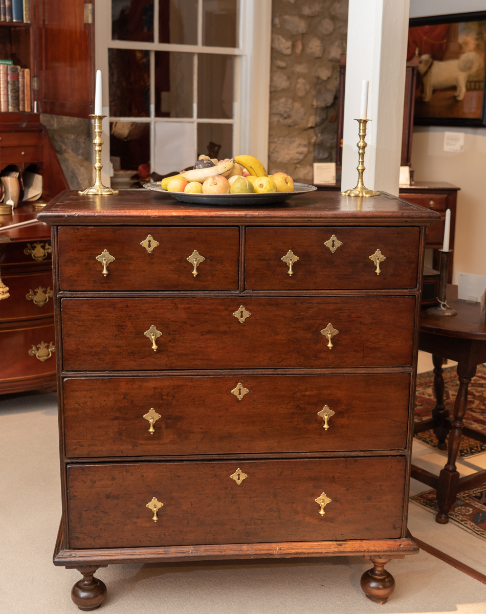 William And Mary, Pine Chest Of Drawers