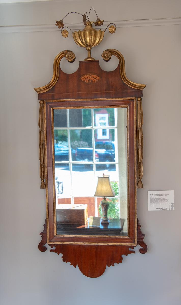 George III, Mahogany Gilt Mirror