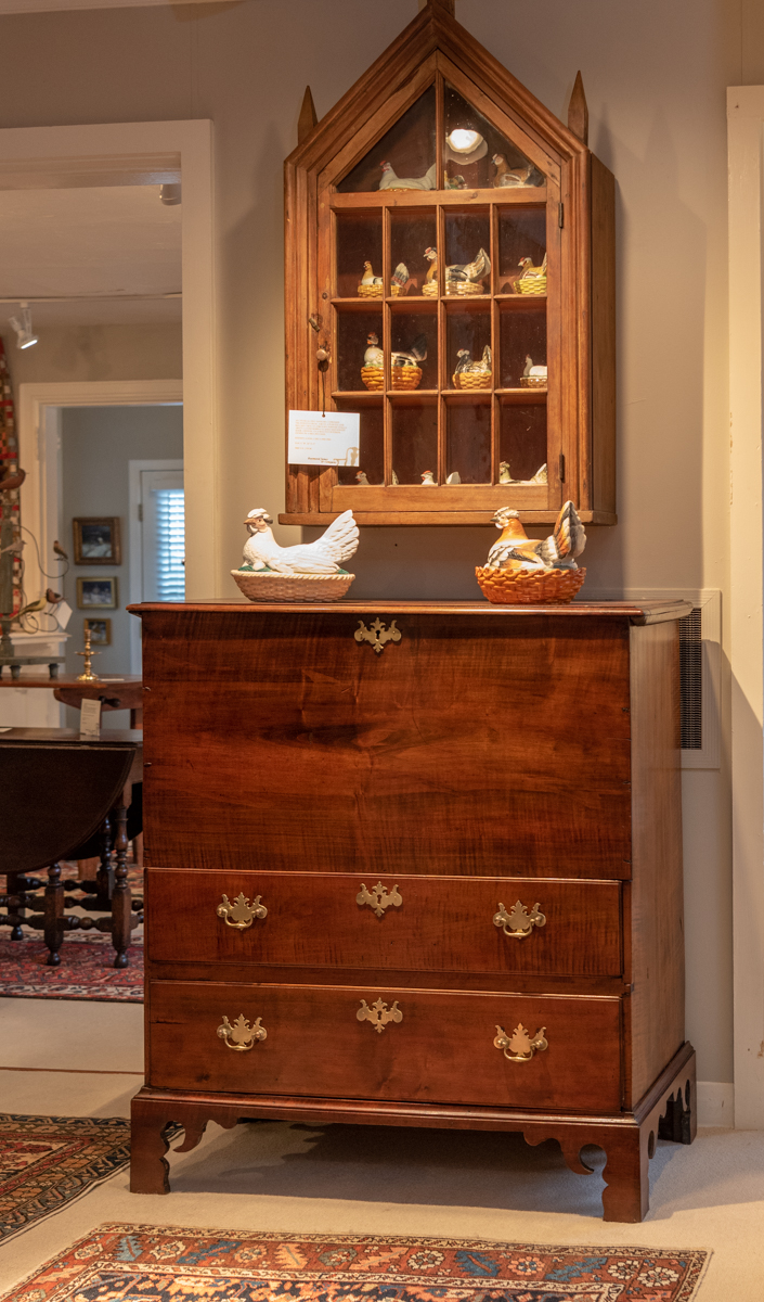 Chippendale Maple Upright Blanket Chest