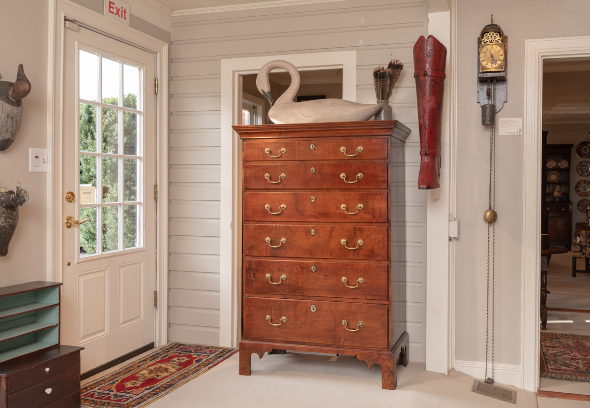 Chippendale Maple Tall Chest Of Drawers