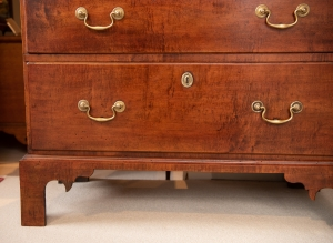 Chippendale Maple Tall Chest Of Drawers Detail