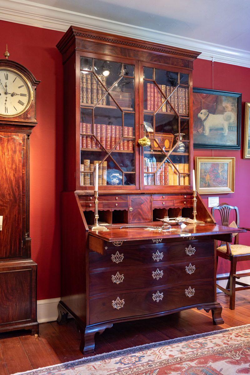 A Fine George II, Walnut Secretary Bookcase Of Rare Small Size