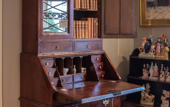 George II, Walnut Secretary Bookcase