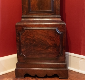 George III, Figured Mahogany Tall Case Clock Detail