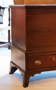 Chippendale Walnut Blanket Chest On Stand detail