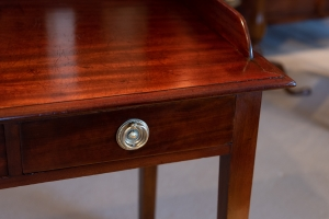 George III, Mahogany Writing Table Detail