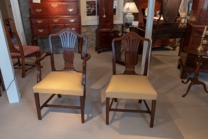 Set Of Twelve George III, Mahogany Carved Dining Chairs Detail