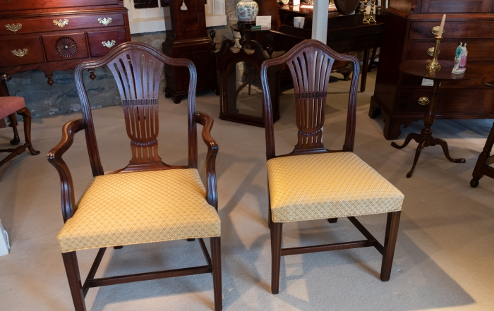 Set Of Twelve George III, Mahogany Carved Dining Chairs
