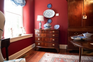 Federal Inlaid Mahogany Bowfront Chest Of Drawers. Detail