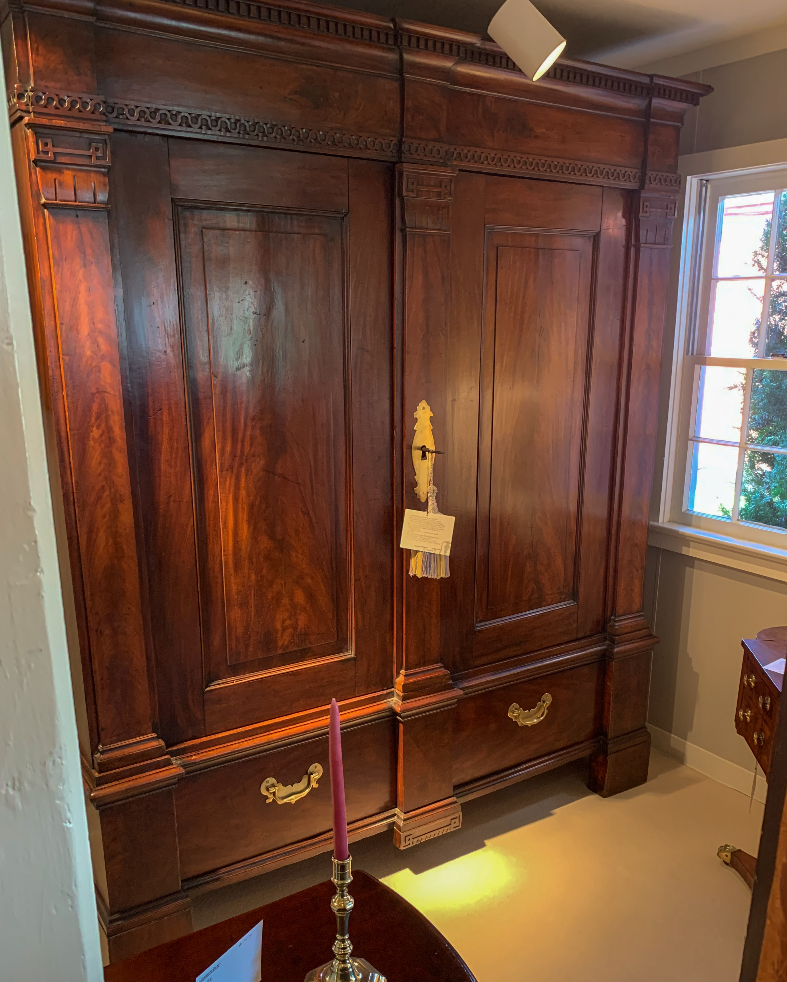 George III, Figured Mahogany Wardrobe