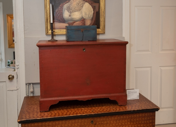 Country Painted Blanket Chest