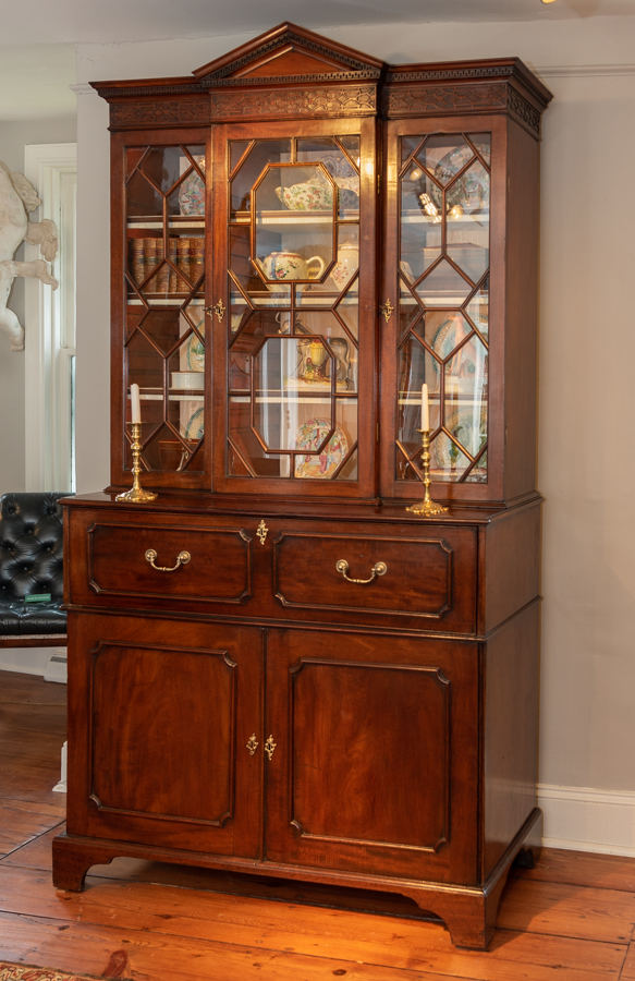 Chippendale Mahogany Diminutive Breakfront