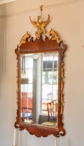 George III, Mahogany And Parcel Giltwood Mirror