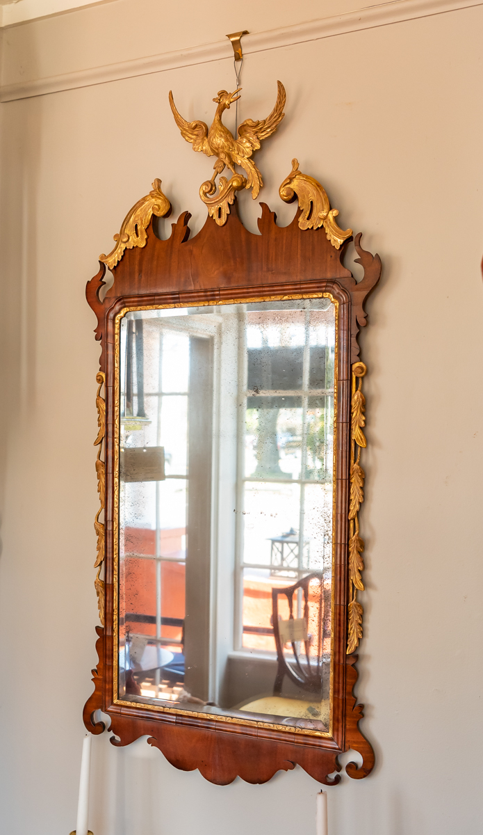 George III, Mahogany And Parcel Giltwood Mirror