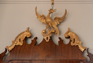George III, Mahogany And Parcel Giltwood Mirror detail