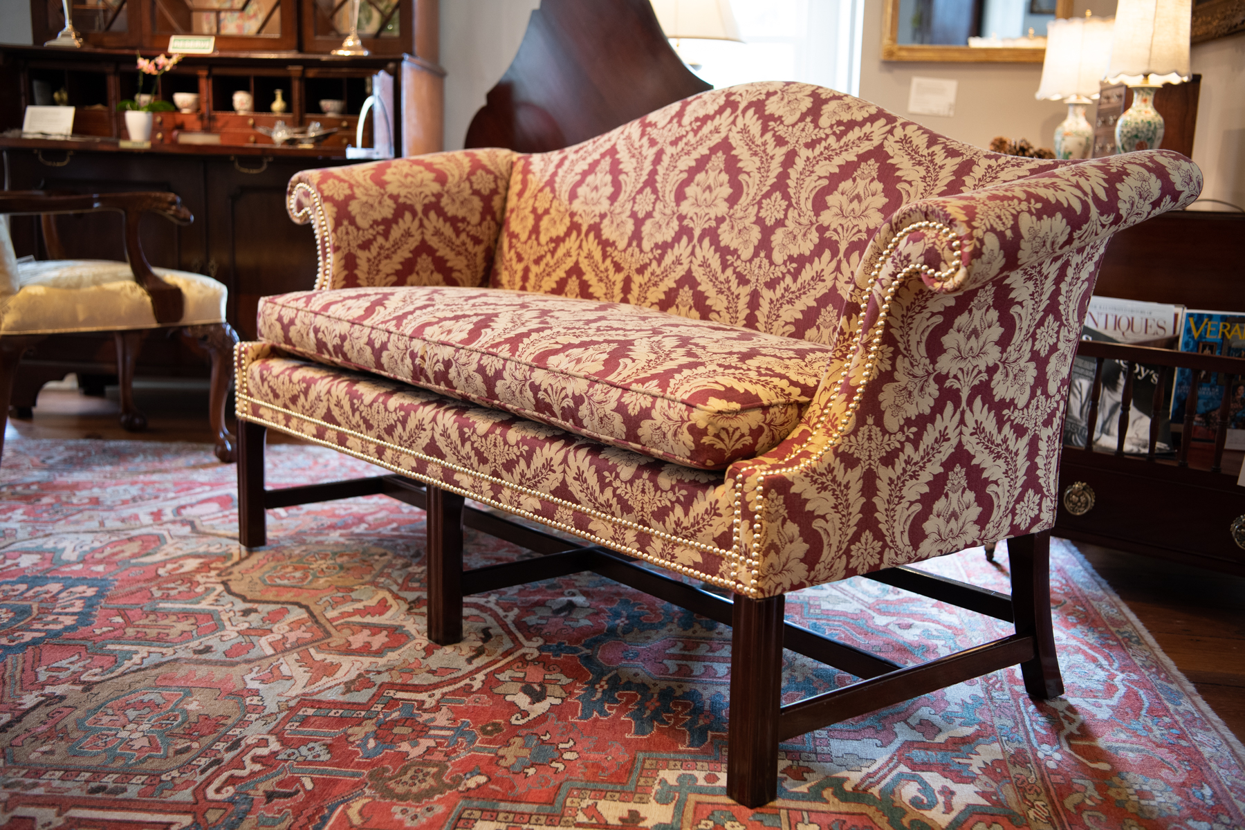 Chippendale Style Sofa Of Small Size